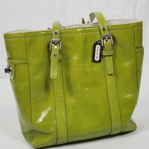 Coach Vintage Lime Green tote